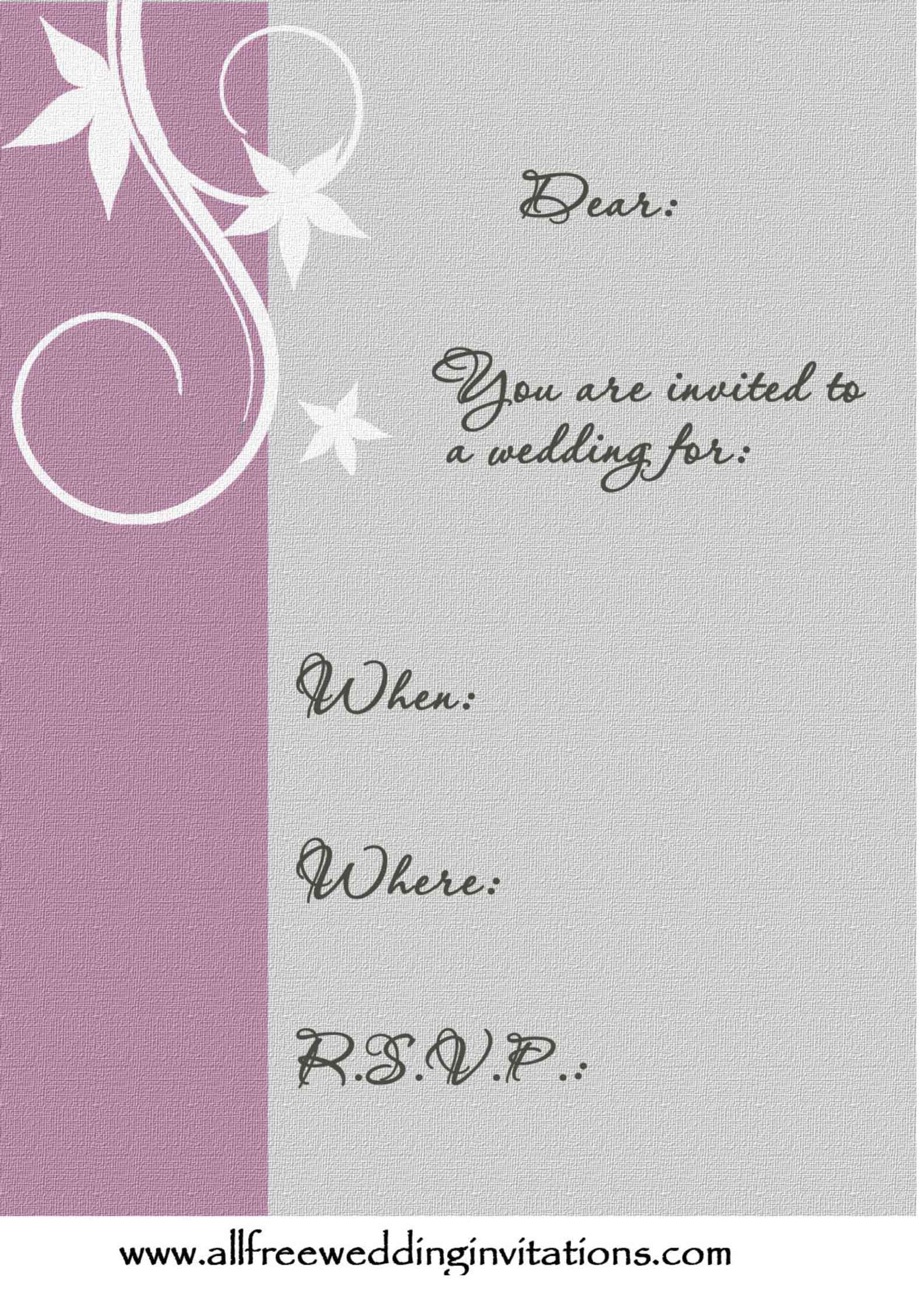pastel colours wedding invitation
