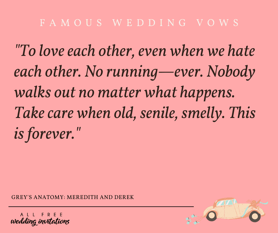 Famous Wedding Vows - All Free Wedding Invitations