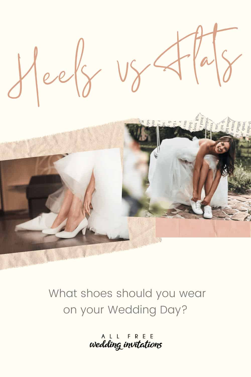 Heels vs Flats: What shoes should you wear on your Wedding Day? - All Free Wedding Invitations